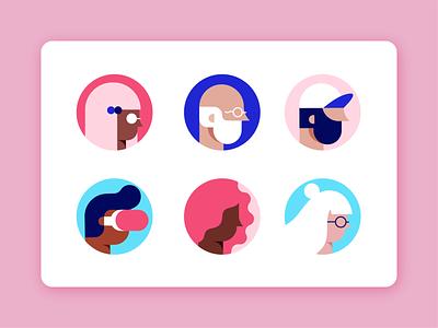 Atlan Personas product atlan personas people icons data people home vector ui illustration