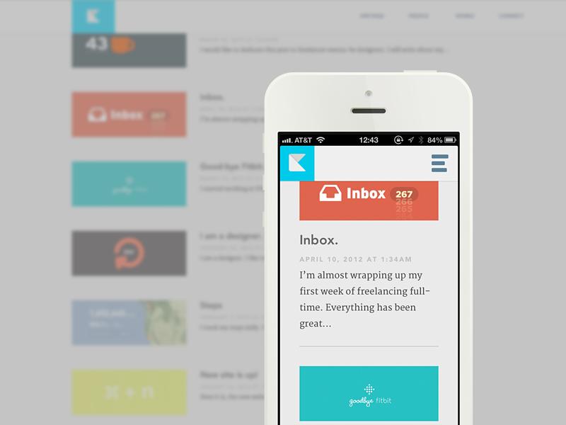 Blog web design blog responsive mobile layout portfolio personal icon typography clean simple minimal