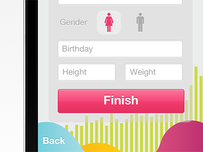 Sign up ios iphone app ui ux form