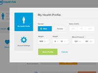 Health Profile modal
