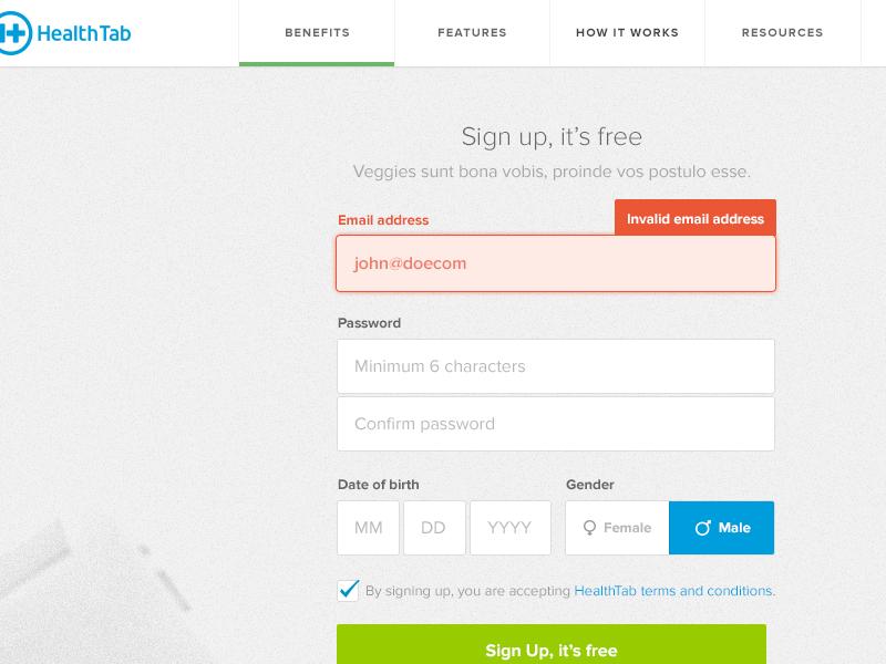 Sign Up Form sign up signup form web design ui ux validation navigation html5 css3