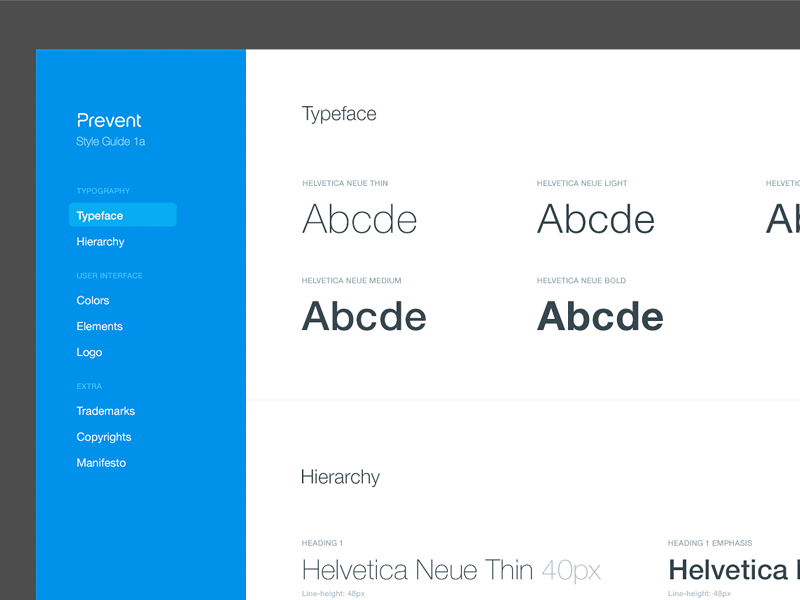 Typeface and hierarchy style guide style guide typeface hierarchy colors ui kit logo