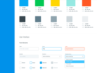 Colors and interface elements
