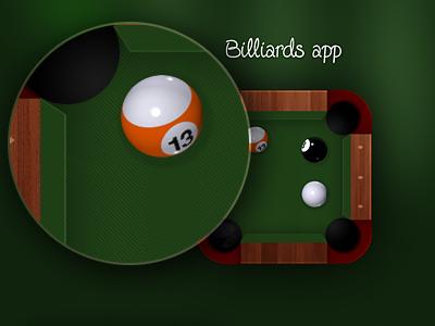 Billiards app icon iphone app icon billiards pool ios design