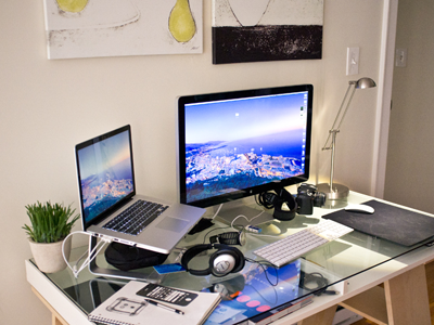 New Workspace office workspace led light 27 apple display 15in macbook pro magic mouse nikon d50 suunto core staedtler monaco