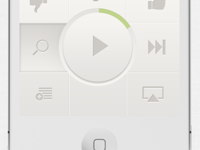 Pandora player experimental ios iphone app redesign pandora music player minimal buttons ui design