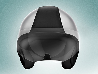 Helmet [revisited] piaggio vespa helmet illustration icon photoshop