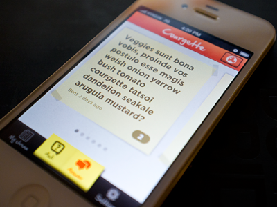 Smart browse iphone app ui browse flick geolocation paper post-it