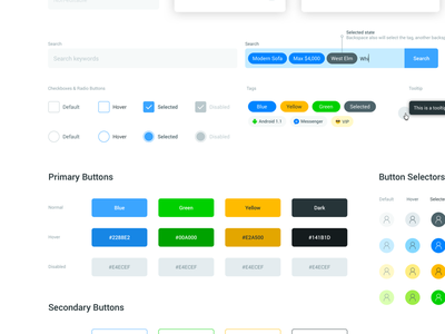 Style Guide Buttons web ui style guide style guide interface search type ahead pills buttons text field