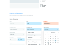 Style Guide Interface Elements