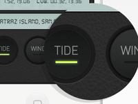Tide app buttons