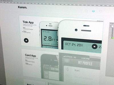 Works page web ui ux design portfolio slide mobile works buttons navigation minimal white helvetica