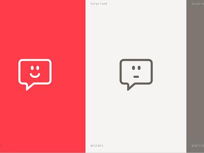 Spoke Logo spoke red minimal design happy expression surprised emotions logo