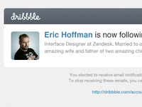 Dribbble email