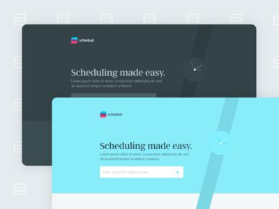 Schedual Landing Page logo form input animation clock responsive web coming landing greycliff argent