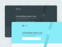 Schedual Landing Page