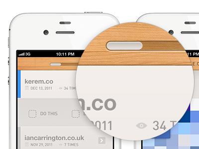 Loading bar ui ux design ios iphone ios5 button minimal wooden texture pattern lighting wood loader loading