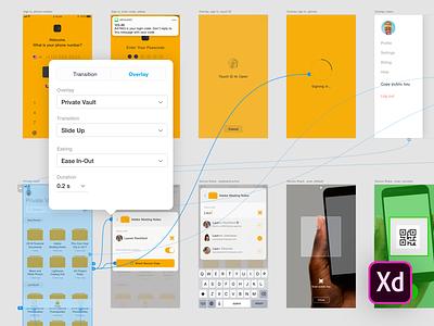 Vault UI Kit (Adobe XD) typography app ios file-sharing xd adobe kit ui vault