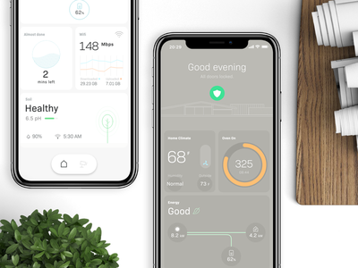 #MadeWithXD 001 iphone x interface home smart ux ui design mobile prototype ios adobe xd madewithxd