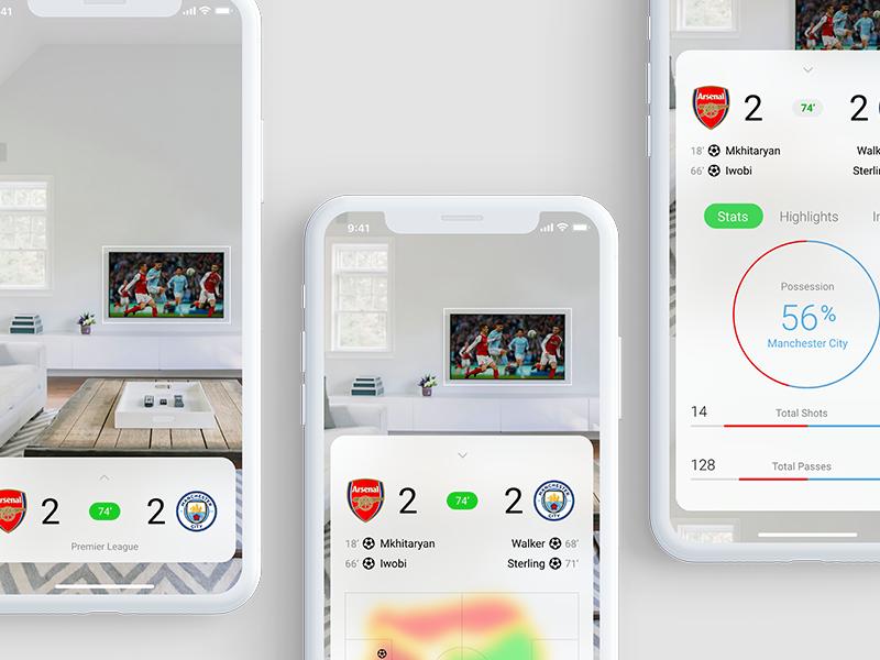 Dribbbble score app light