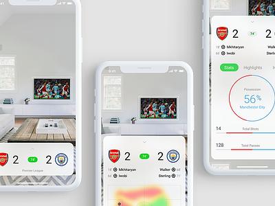 ⚽️ Score App #MadeWithXD madewithxd adobe partner adobe score soccer football ui design app ios