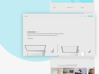 kerem.co 7.0 typography animation css html tablet mobile responsive akkurat portfolio design website personal