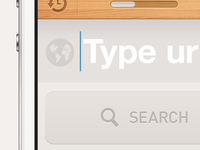 Traditional search button