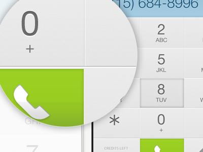 iPhone dial pad iphone ui ux design dial pad light