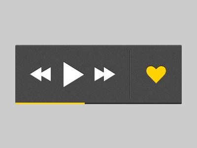 iPhone HUD iphone ios hud play rewind forward pause heart like design ui