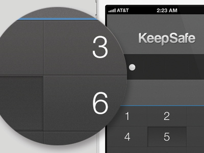 iPhone dark dial pad iphone ios mobile visual design ui ux product texture pattern dial pad dial pad buttons noise minimal