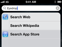 Search app store