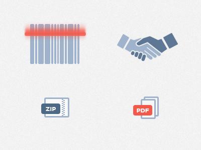 Icons for website icon web glyph scanner hand shake handshake psd zip folder