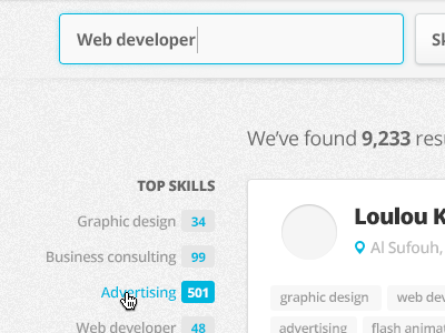 Search results search results web ui ux form design text field tags indicators open sans opensans avatar