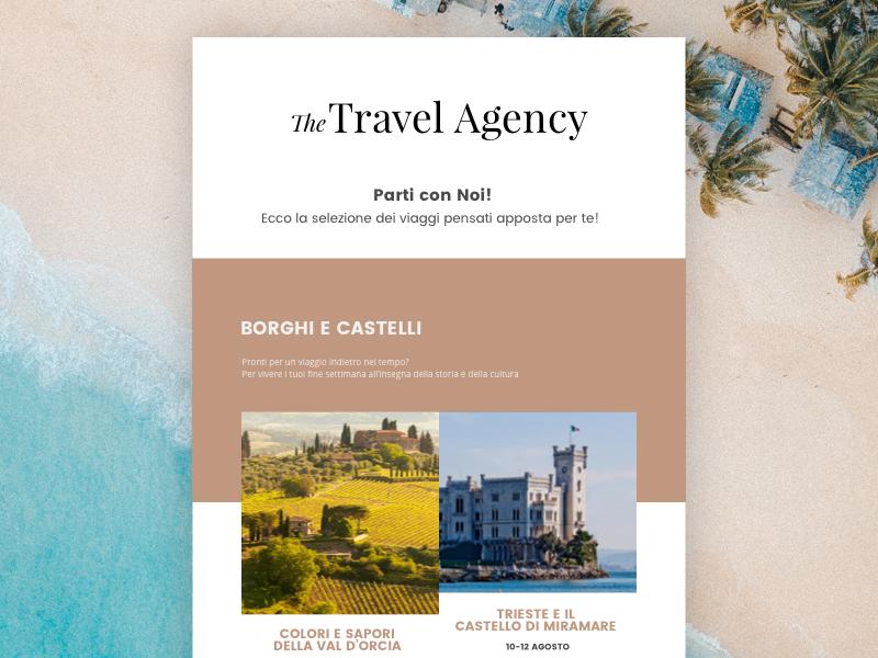 Travel agency Newsletter flat travel clean minimal ui interface design newsletter