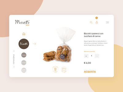 Moretti Ecommerce concept clean interface minimal ecommerce website design