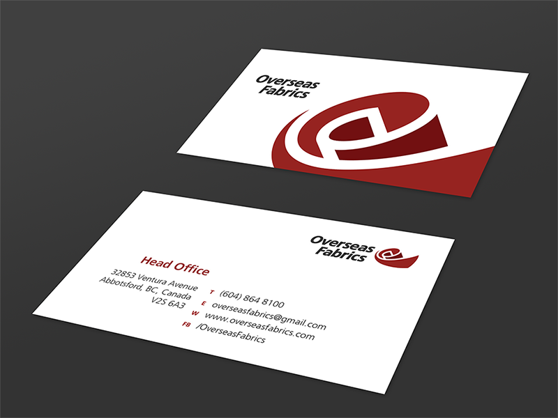 Overseas Fabrics Business Cards by Aldrich Tan - Dribbble