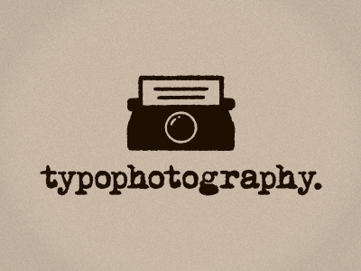 Typophotography poetry poet vintage minimalist rough textured old grunge type typo photography typewriter logo aldricht aldrich tan