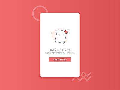 Empty Wishlist 404 slow results popup no location ios internet emptyapp illustration heart error