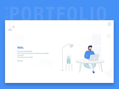 Portfolio Cover typography icons vector design branding minimalistic illustration