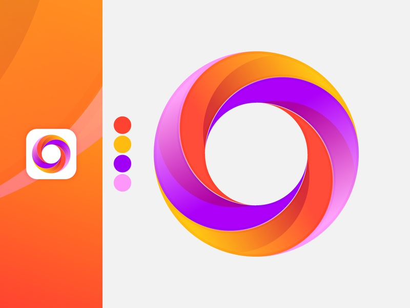 Letter O brand identity ui vector illustrator bright colors app icon logotype gradient colorful circles concept creative grid logo gridsystem design logo motion o logo o lettermark o letter
