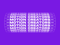 Motion Creators । Animated Typography animated type text animation animated gif motion animation kinetic motion art