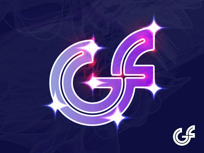 GF Logomark emotion sakib design trend line art gf lighting gradient illustration logotype lettermark