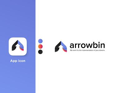 Arrowbin Digital Agency app logo logo logotype abstract arrowbin app icon branding design studio logo design agency logo graphic agency