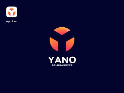Yano app icon ui branding lettermark y letter logo y icon logomark logotype y logo