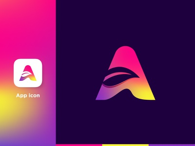A Letter Logo ।  App icon icon a iconic logo abstract coustom letter a a logo a icon letter a logo letter a gradient branding lettermark