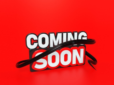 Coming Soon 3D Text Design cinema 4d advertising 3d rendering 3d render c4d creative 3d artist social 3d design social media social coming soon template 3d ads 3d text 3d 3d modeling