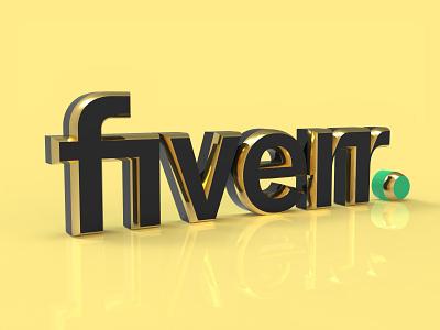 Fiverr 3D Logo Design 3d render 3d logos 3d lettering 3d illustration 3d logo from 2d 2d to 3d 3d artist 3d model 3d art golden 3d golden text fiverr 3d modeling 3d tex 3d logo design 3d logo