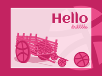Hello dribbble  (dribbble Wheelbarrow)