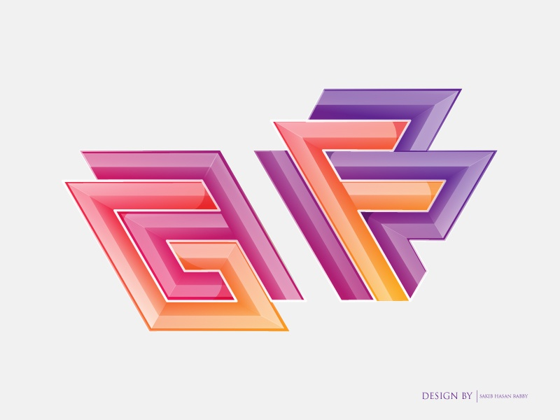 GF নাই   Logo Design sakib single person bachelor goals love partner heart break relationship funny logo bangladeshi designer no girlfriend gf