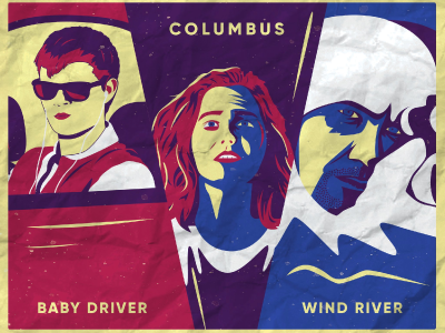 Screen Printing Project vector vector art wind river baby driver columbus movie poster print graphic design